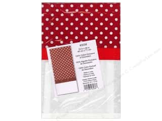 Towels Flour Sack Towel: Design Works Embroidery Towel Polka Dot Red