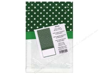 Embroidery Green: Design Works Embroidery Towel Polka Dot Green
