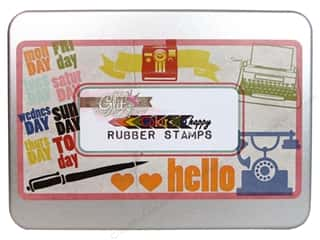 Glitz Design Rubber Stamp Set Color Me Happy