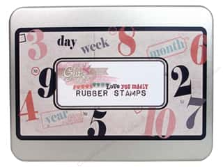 Valentine's Day ABC & 123: Glitz Design Rubber Stamp Set Love You Madly