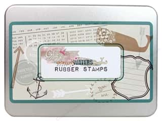 Father's Day Rubber Stamping: Glitz Design Rubber Stamp Set Uncharted Waters