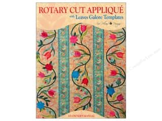 Templates Clearance Patterns: Sue Pelland Designs Rotary Cut Applique Book with Leaves Galore Templates