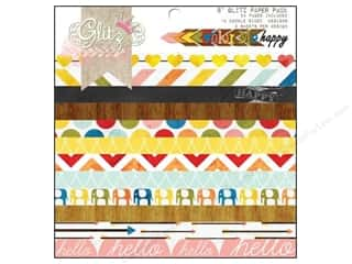 "glitz cardstock: Glitz Design Paper Pad 8""x 8"" Color Me Happy"