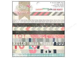 "Glitz Design Papers: Glitz Design Paper Pad 8""x 8"" Love You Madly"