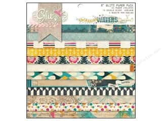 Glitz Design Paper Pad 8x8 Uncharted Waters