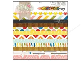 "glitz cardstock: Glitz Design Paper Pad 6""x 6"" Color Me Happy"