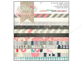 "Scrapbooking Designer Papers & Cardstock: Glitz Design Paper Pad 6""x 6"" Love You Madly"