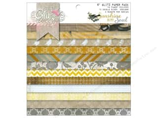 "Scrapbooking Designer Papers & Cardstock: Glitz Design Paper Pad 6""x 6"" Sunshine In My Soul"