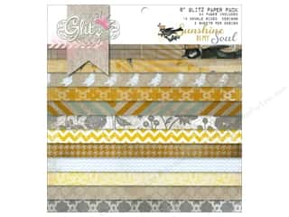 "Envelopes Designer Papers & Cardstock: Glitz Design Paper Pad 8""x 8"" Sunshine In My Soul"