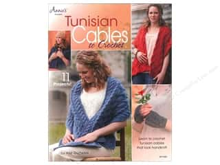 "Patterns 10"": Annie's Tunisian Cables To Crochet Book by Kim Guzman"