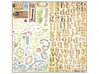 Bo Bunny Chipboard Shapes: Bo Bunny Chipboard Stickers 12 x 12 in. C'est La Vie