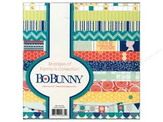 Blank Card & Envelopes: Bo Bunny 6 x 6 in. Paper Pad Family Is