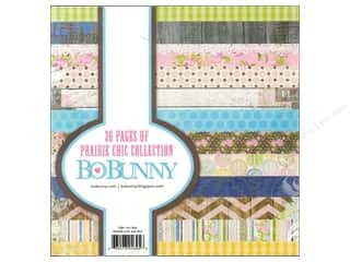 Blank Card & Envelopes: Bo Bunny 6 x 6 in. Paper Pad Prairie Chic