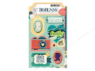 Bo Bunny Cardstock Stickers Dimensional Family Is