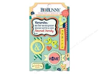 Bo Bunny Sticker Chipboard Layered Family Is