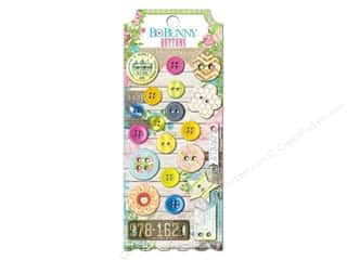 Clearance Blumenthal Favorite Findings: Bo Bunny Buttons 21 pc. Prairie Chic