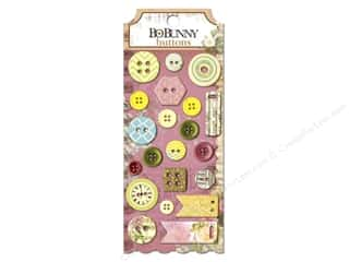 Sew-on Buttons: Bo Bunny Buttons 21 pc. C'est La Vie