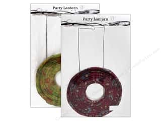 "Home Decor paper dimensions: Sierra Pacific Decor Lantern Paper Large 20"" Floral Assorted Purple or Green"