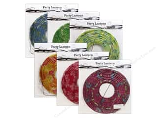"Home Decor paper dimensions: Sierra Pacific Decor Lantern Paper Medium 12"" Round Floral Assorted 6 Patterns (6 pieces)"