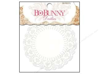 Valentine's Day Cooking/Kitchen: Bo Bunny Doilies 4 in. Small 20 pc. (3 pieces)