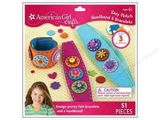 Weekly Specials Bucilla Beginner Cross Stitch Kit: American Girl Kits Easy Stitch Headband & Bracelet