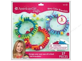 Kid Crafts Crafting Kits: American Girl Kit Wavy Color Bracelets