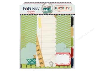 Blank Card & Envelopes: Bo Bunny Misc Me Dividers Family Is
