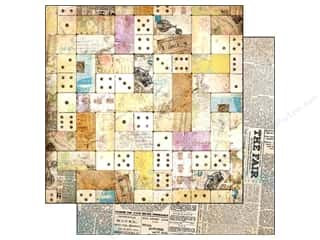Bo Bunny Paper 12x12 C&#39;est La Vie Domino (25 piece)