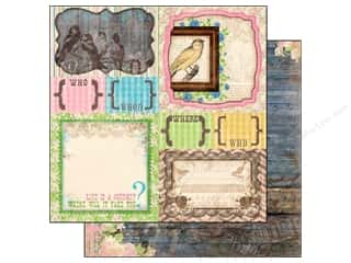 Papers Sale: Bo Bunny 12 x 12 in. Paper Prairie Chic Collection Yard Sale (25 pieces)
