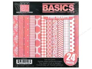 Bazzill 6 x 6 in. Multi Pack Basics 24 pc. Fire Hearts