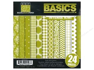 "Weekly Specials Card Making: Bazzill Multi Pack 6""x 6"" Basics Intense Kiwi 24pc"