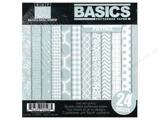 "Weekly Specials Doodlebug Paper Pack: Bazzill Multi Pack 6""x 6"" Basics Patina 24pc"