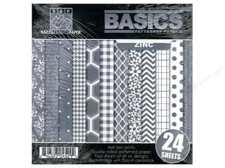 "Weekly Specials Doodlebug Paper Pack: Bazzill Multi Pack 6""x 6"" Basics Zinc 24pc"