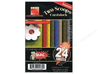 Bazzill 4 x 6 in. Two Scoops Pack 24 pc. MAC (3 sheets)