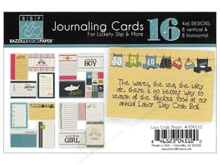 Clearance Bazzill Lickety Slip Journaling Cards: Bazzill Journaling Cards 4 x 6 in. Lucy's Crab Shack 16 pc.