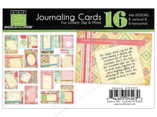 Clearance Bazzill Lickety Slip Journaling Cards: Bazzill Lickety Slip Journaling Cards 4 x 6 in. Ambrosia 16 pc.