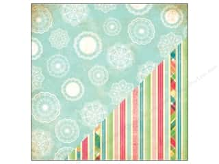 Papers Printed Cardstock: Bazzill 12 x 12 in. Paper Ambrosia Doilies/Printed Stripes 25 pc.