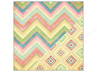 Bazzill 12 x 12 in. Paper Chevron/Diamond Ikat 25 pc.