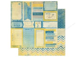 Summer Stamps: Authentique 12 x 12 in. Paper Seasons Summer Collection Enhancement (25 pieces)