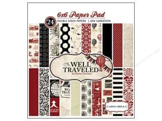 Carta Bella Paper Pad 6&quot;x 6&quot; Well Traveled
