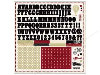 Carta Bella Sticker 12 x 12 in. Well Traveled Alphabet (15 set)