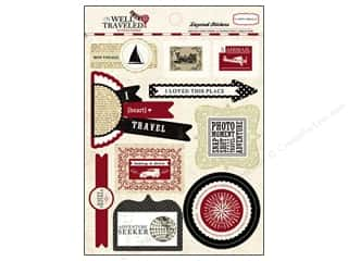 Carta Bella Caption Stickers / Frame Stickers: Carta Bella Sticker 12 x 12 in. Layered Well Traveled