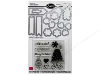 Sizzix Framelits Die Set 12 PK with Stamps Birthday Cake