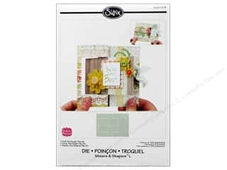 Scrapbooking Dies: Sizzix Movers & Shapers L Die Card Rectangle Flip-It by Stephanie Barnard