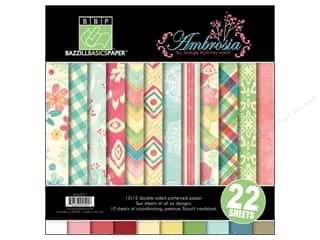 "Weekly Specials Olfa Frosted Acrylic Ruler: Bazzill Multi Pack 12""x 12"" Ambrosia 22pc"