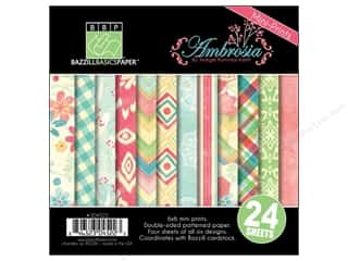 "Weekly Specials Card Making: Bazzill Multi Pack 6""x 6"" Ambrosia 24pc"