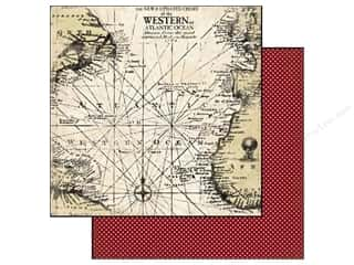 Carta Bella Paper 12x12 Well Traveled Antique Map (25 piece)