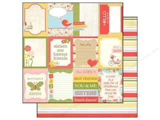 Sisters Papers: Echo Park 12 x 12 in. Paper Sisters Collection Journaling Cards (15 pieces)