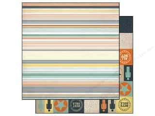 Clearance Blumenthal Favorite Findings: Echo Park 12 x 12 in. Paper Brothers Stripe (15 piece)