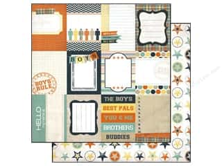 Echo Park Paper 12x12 Brothers Journaling Cards (15 piece)